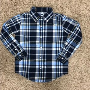 Janie and Jack button up long sleeve shirt